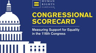 Cover of HRC's Congressional Scorecard: Measuring Support for Equality in the 116th Congress