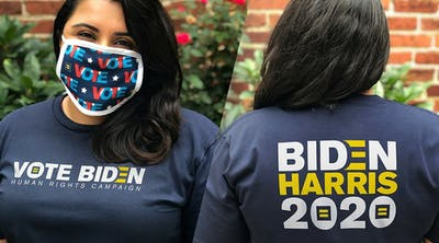 HRC's Biden/Harris 2020 shirt