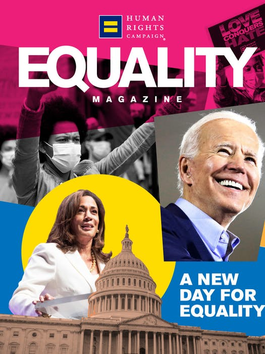 Equality Magazine Cover
