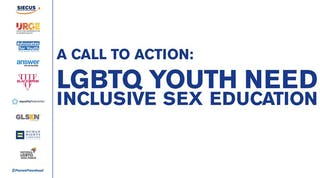 Cover image of report: A Call to Action / LGBTQ Youth Need Inclusive Sex Education