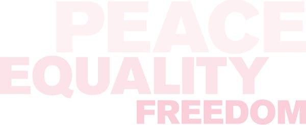 Word cloud: Peace, Equality, Freedom