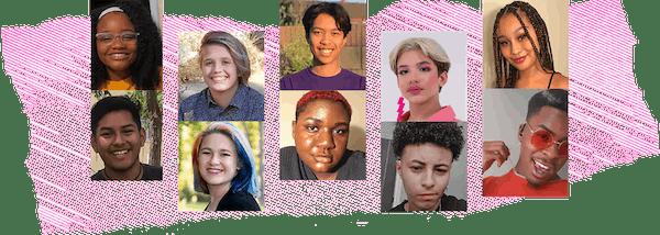 HRC Foundation's Youth Ambassadors Luke Chacko, Nico Craig, Junior Hernandez, Nakiya Lynch, Alise Maxie, Ve'ondre Mitchell, Molly Pinta, Joseph Reed, Ash Silcott and Jalen Smith.